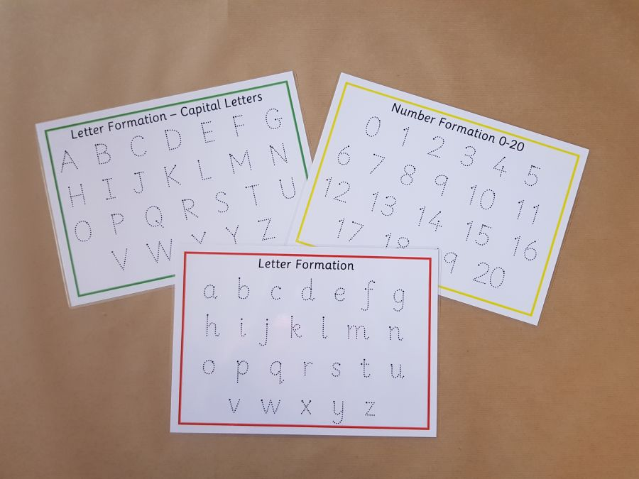 Tracing Letters, Capital letters and Numbers