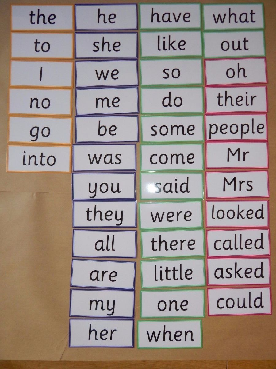 Phonics Tricky Words Flash Cards - Phases 2-5
