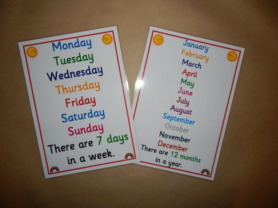Days/Months Poster