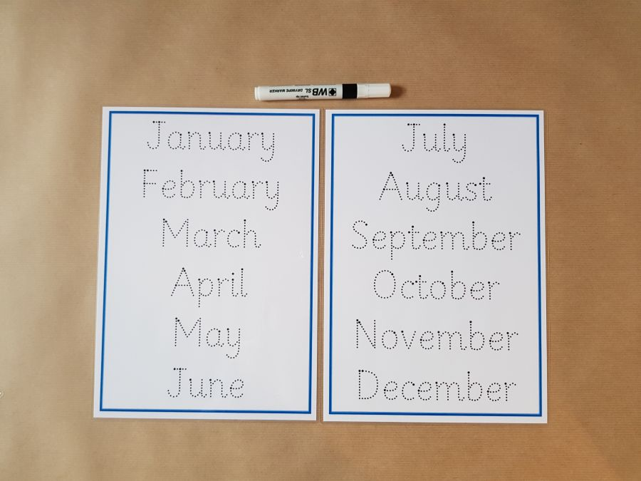 Months of the Year Formation Mats