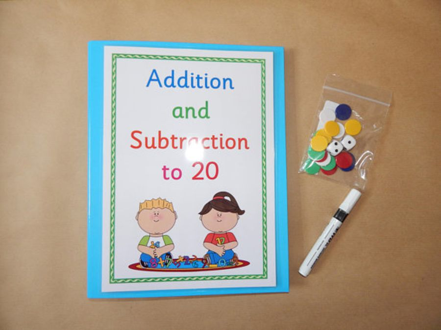 Numeracy Learning Folder - Addition and Subtraction to 20
