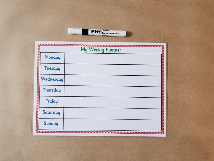 Weekly Planner & dry wipe pen