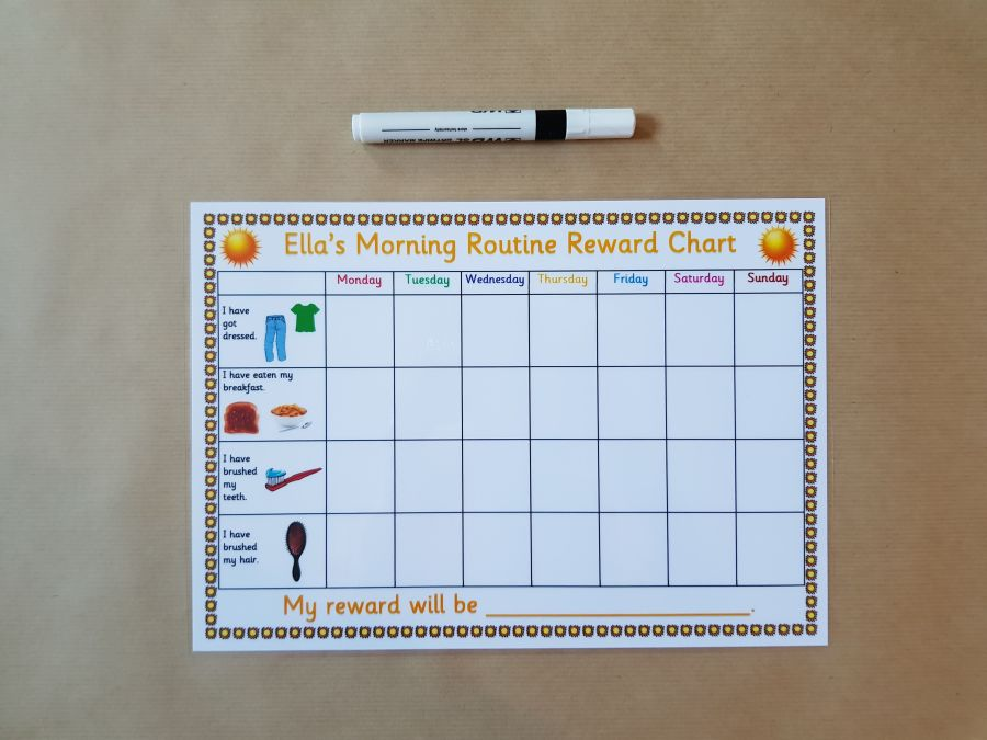 Morning Routine Reward Chart
