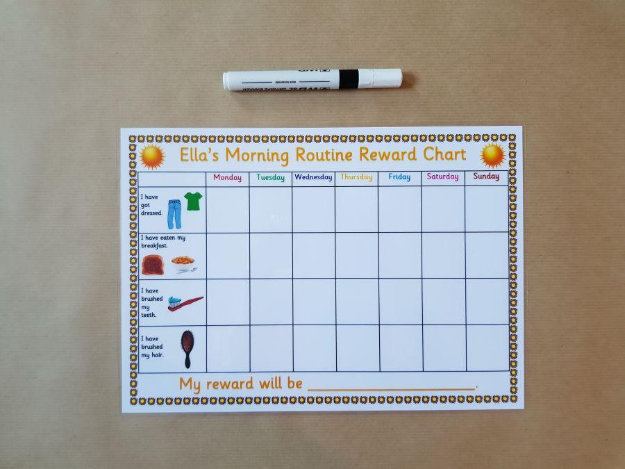Morning Routine Reward Chart