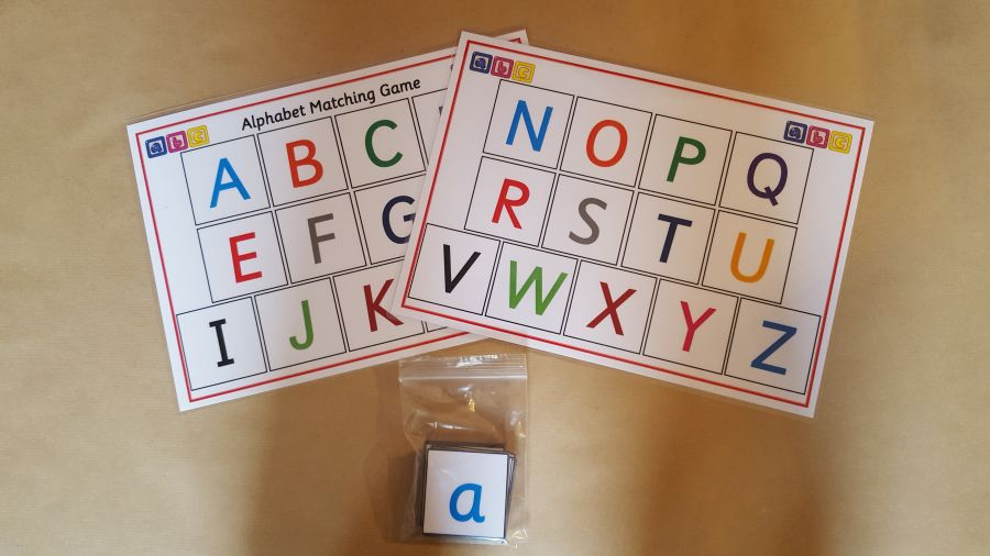 Alphabet Matching Game - Lower Case to Capital Letters