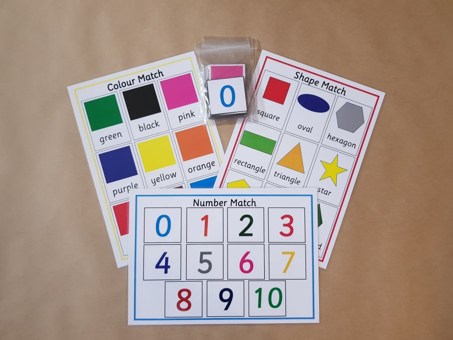 Matching Games Bundle - Shape, Colour and Number Match