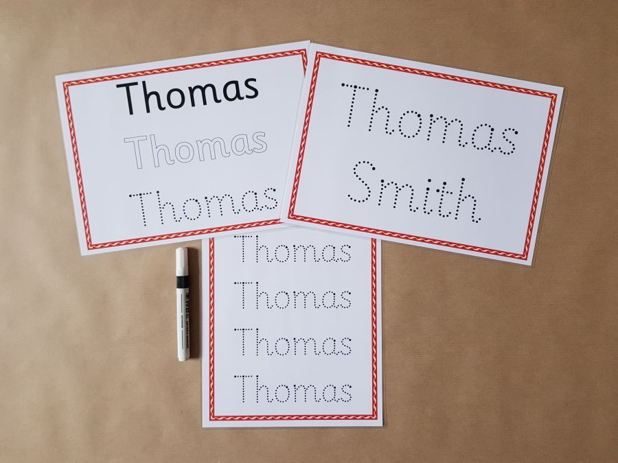 Name Tracing Card Bundle