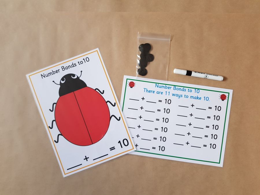 Number Bonds to 10 - Ladybirds