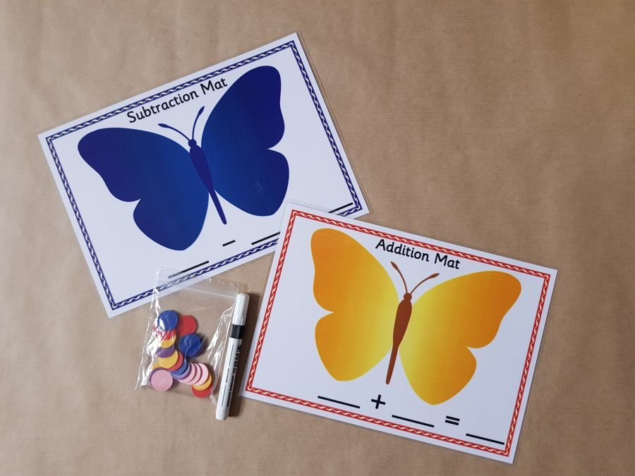 Butterfly Addition & Subtraction Mats