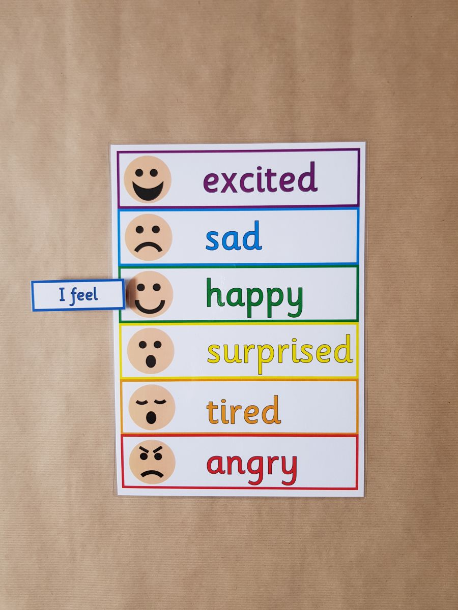 I Feel - Emotions, Feelings, peg chart