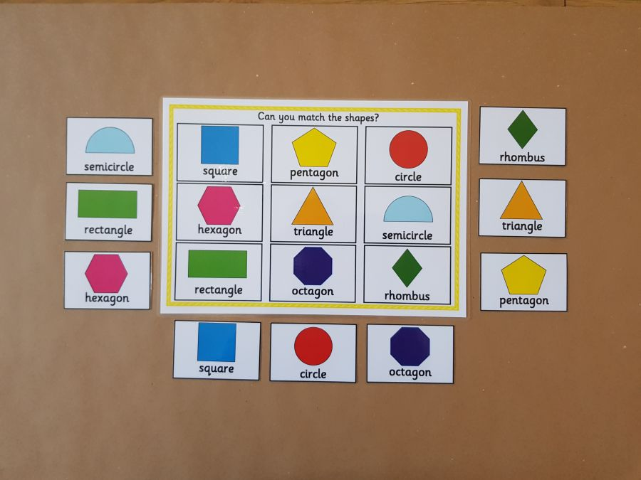 NEW Shape Matching Game
