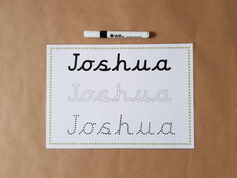 Pre Cursive Name Card