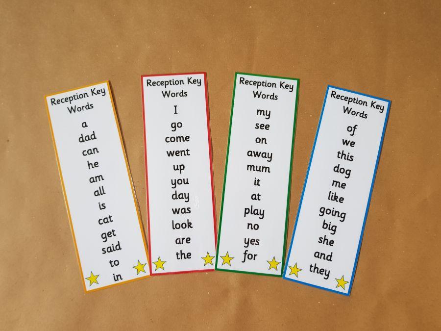 Reception Key Word Bookmarks