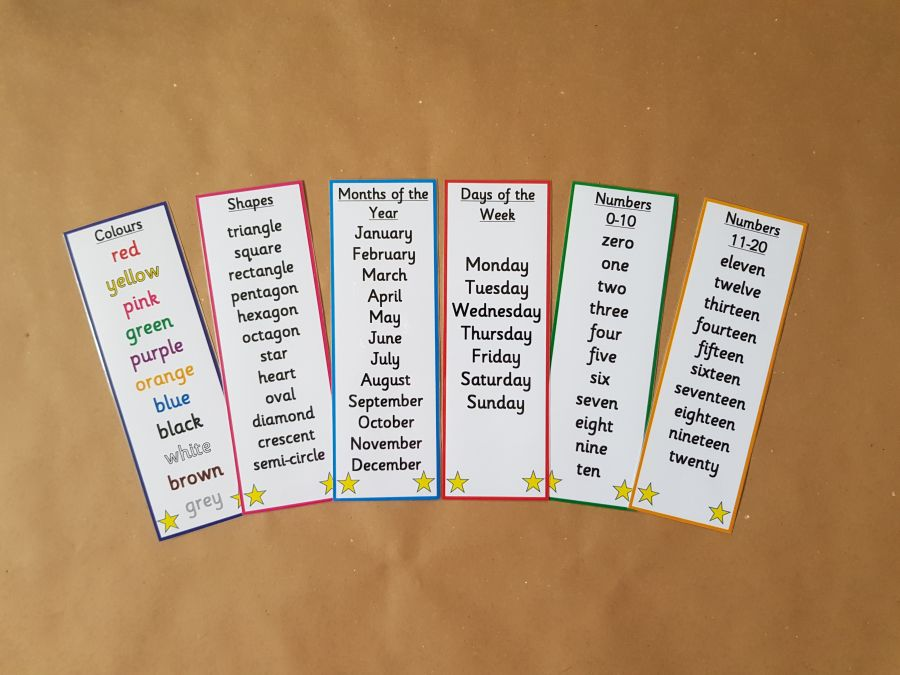 My First Learning Bookmarks