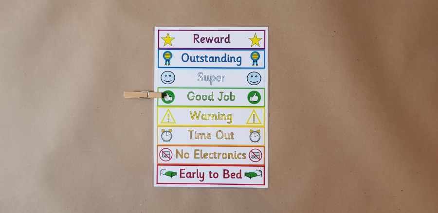 Peg Reward Chart