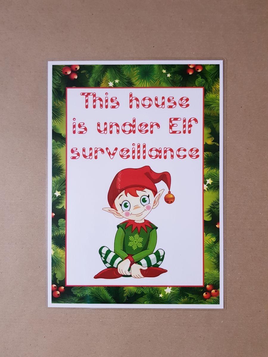 Elf Surveillance Poster