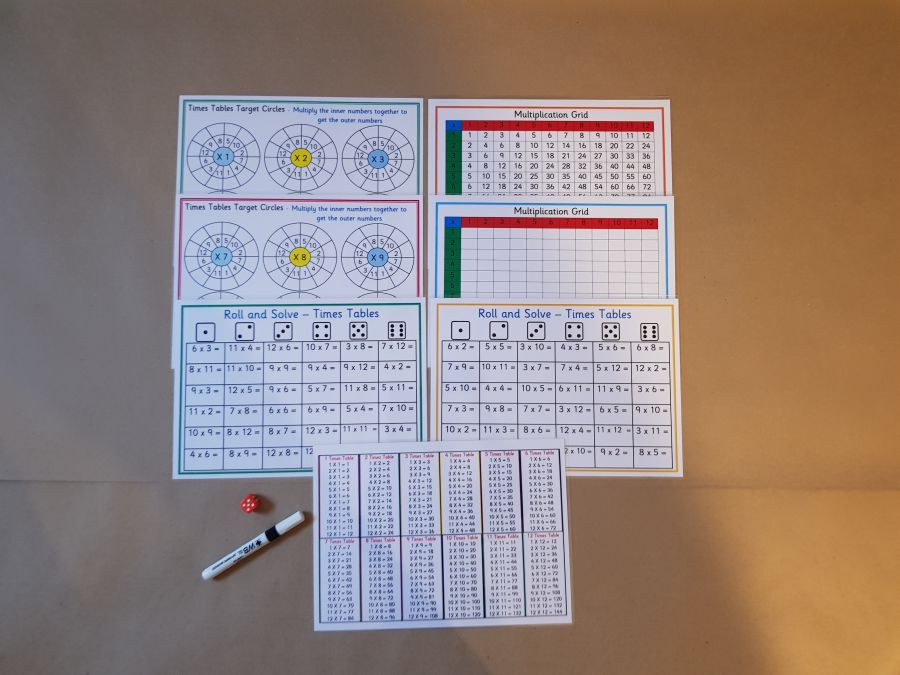 1 - 12 Times Tables Bundle