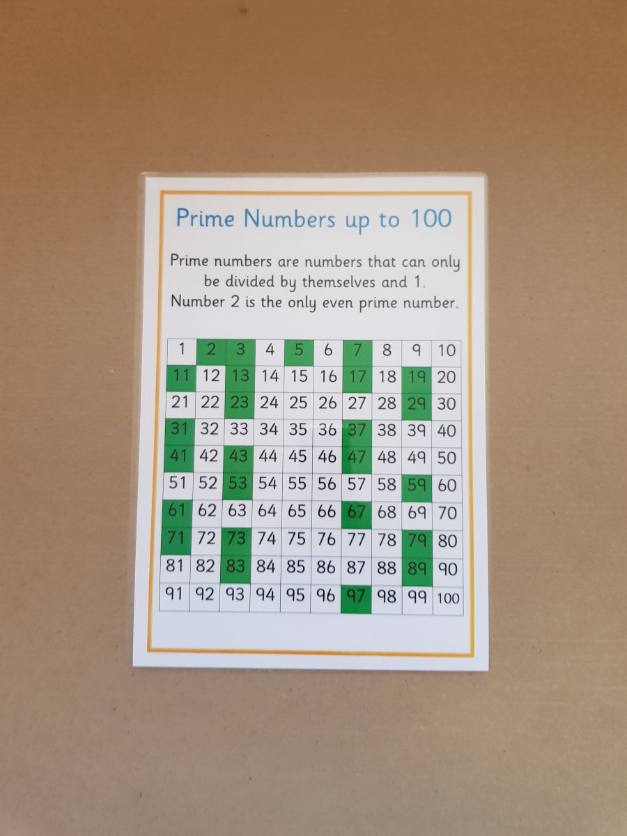 Prime Numbers to 100