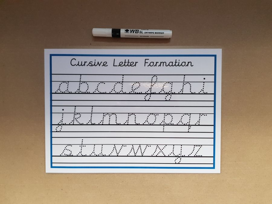 Tracing Cursive Letters with line