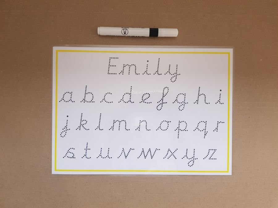 Tracing Name and Letters - Pre cursive Font