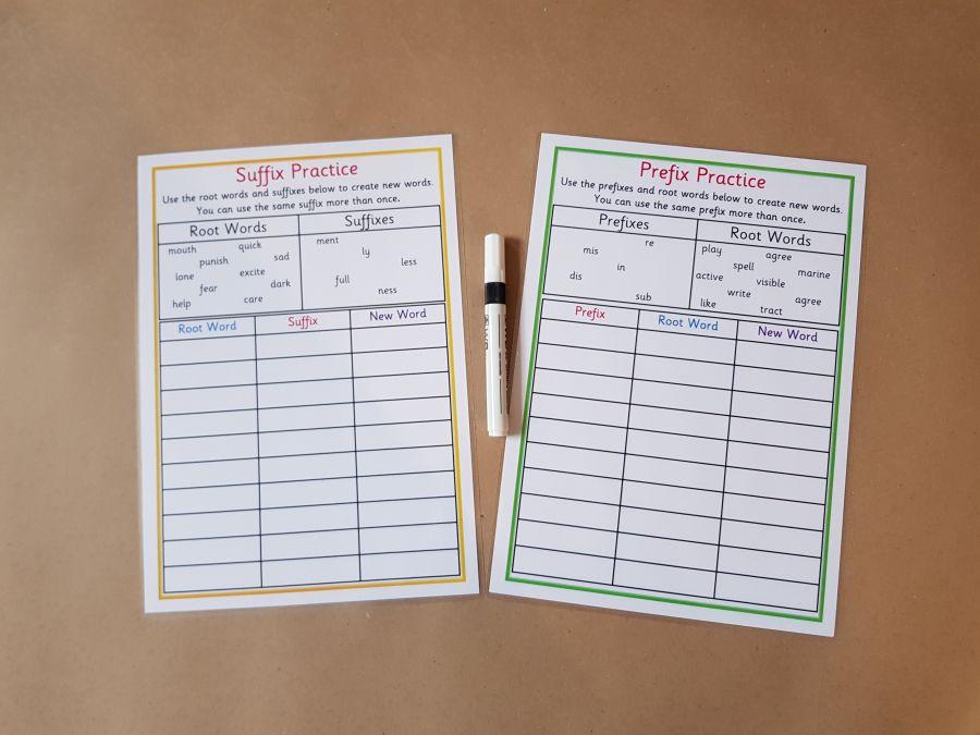 Prefix and Suffix Worksheet