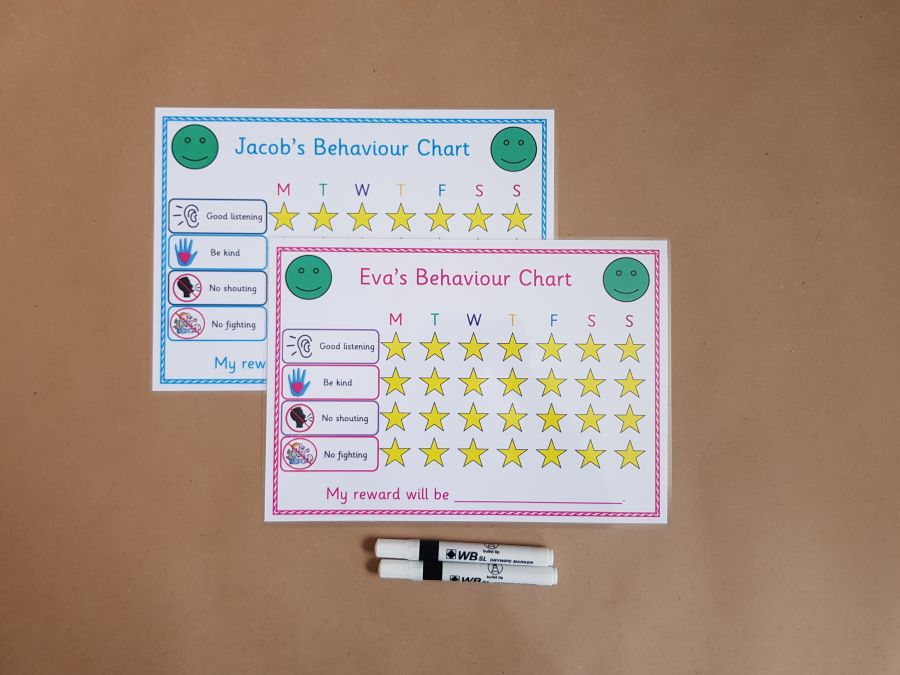 2 X Behaviour Reward Charts