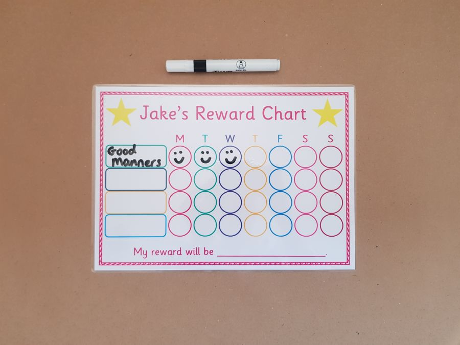 Reward Chart and dry wipe pen