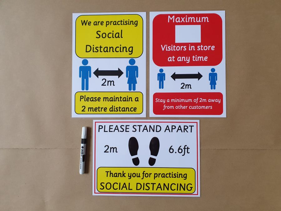 Social Distancing Poster Bundle