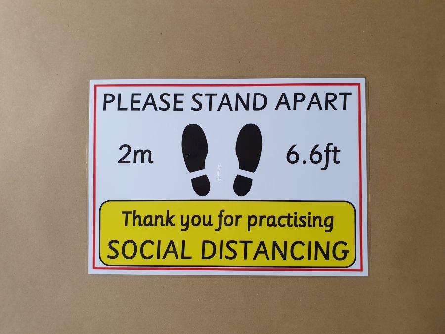 Social Distancing Poster Landscape