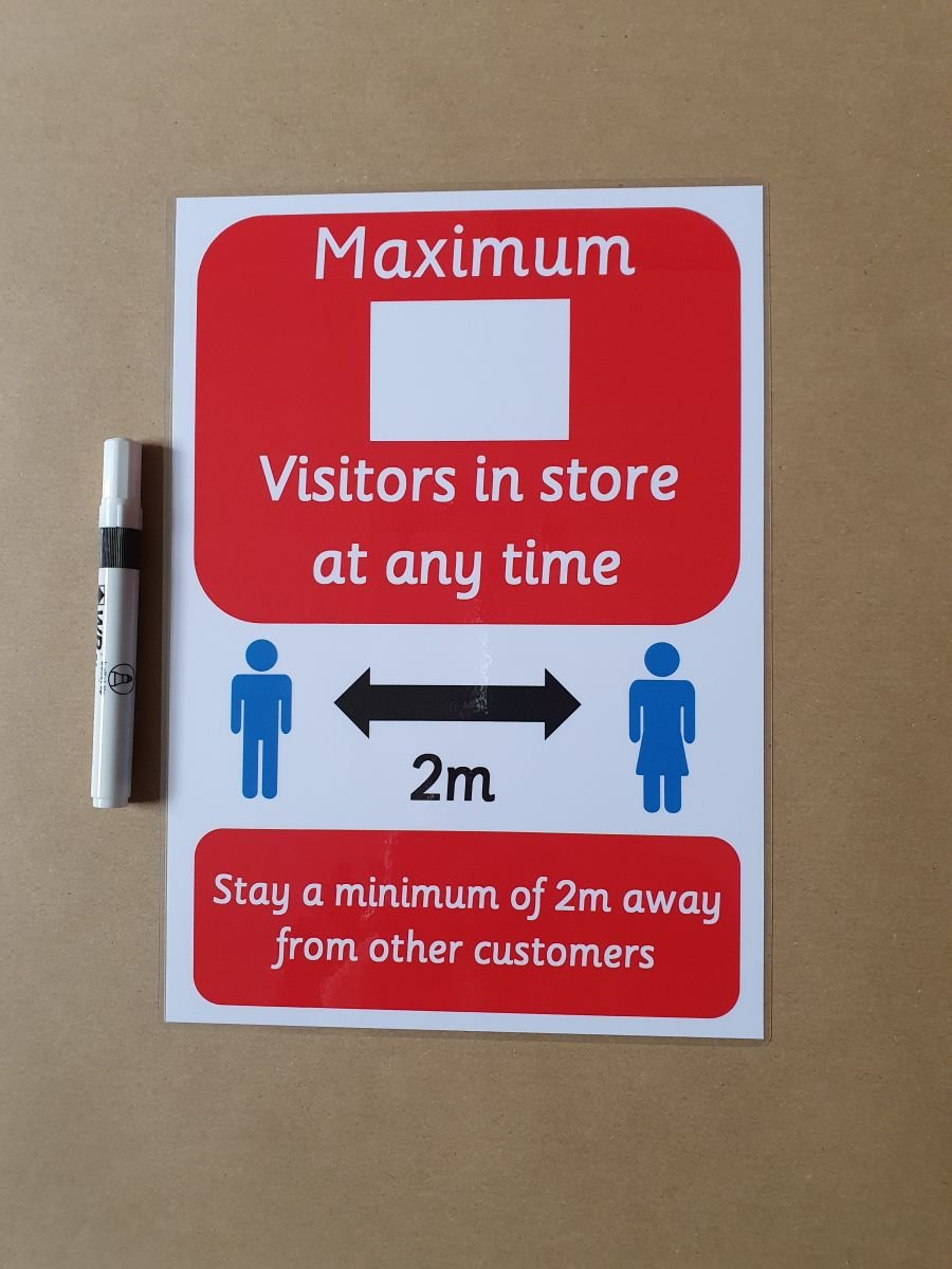 Social Distancing Poster - Maximum Number of visitors