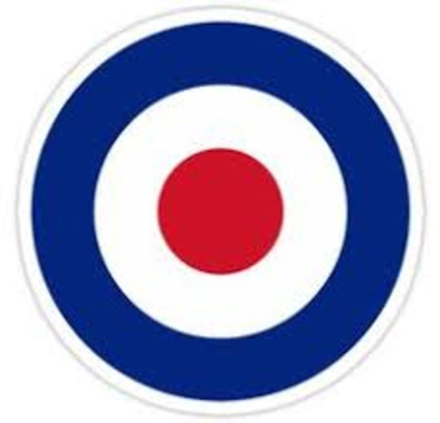 RAF - British Roundel - Type A - white outline