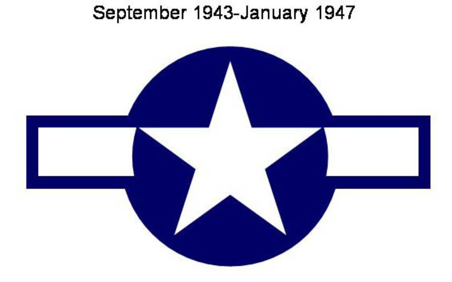 USAF Blue/White Star & Bar - No Stripe