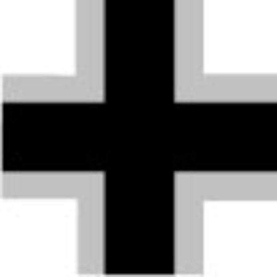 German Luftwaffe Black Cross with wide white border