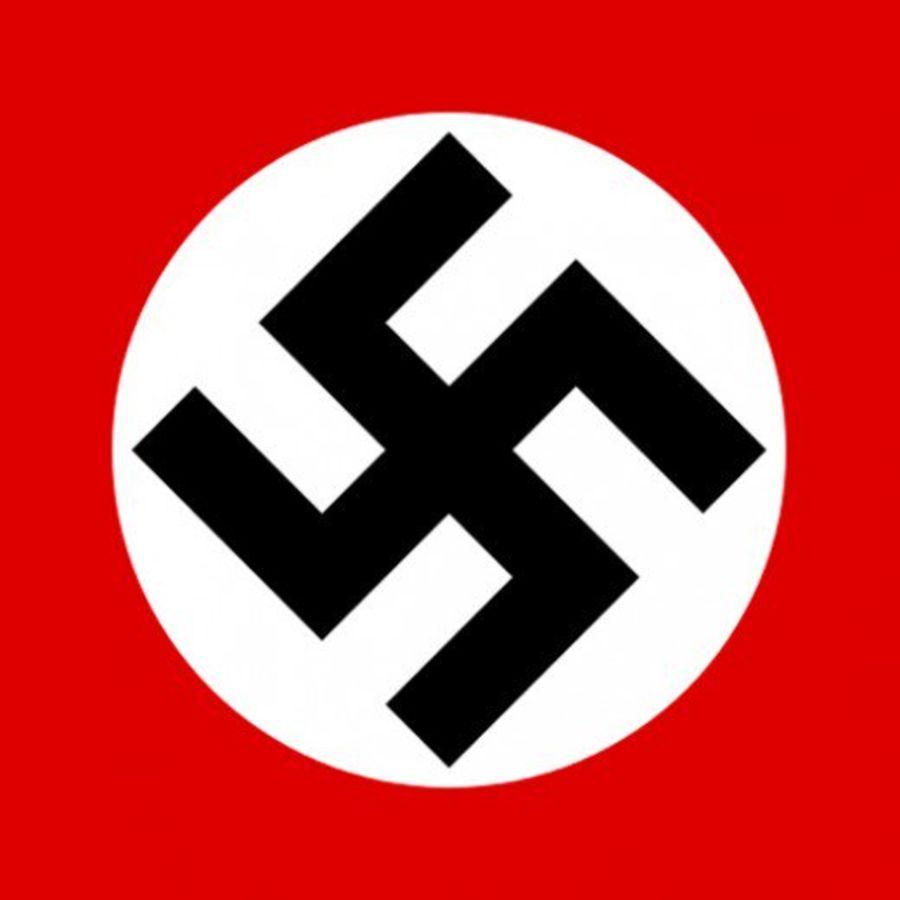 German Luftwaffe type Swastika on a white circle