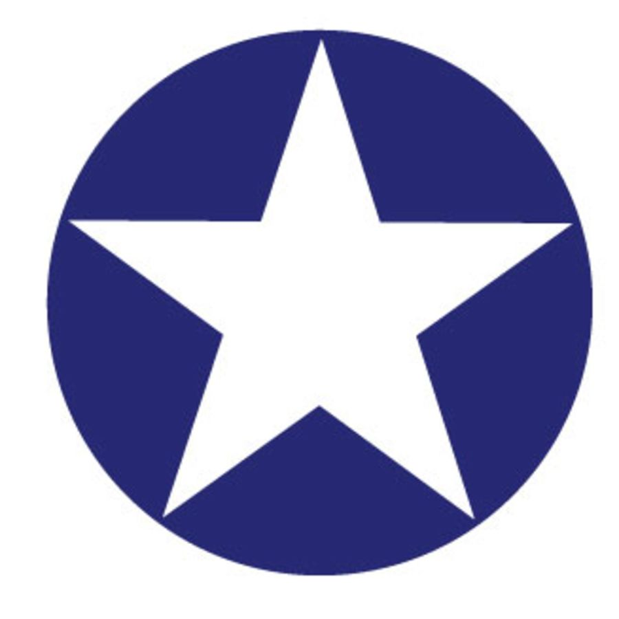 USAF Roundel Blue Circle White Star