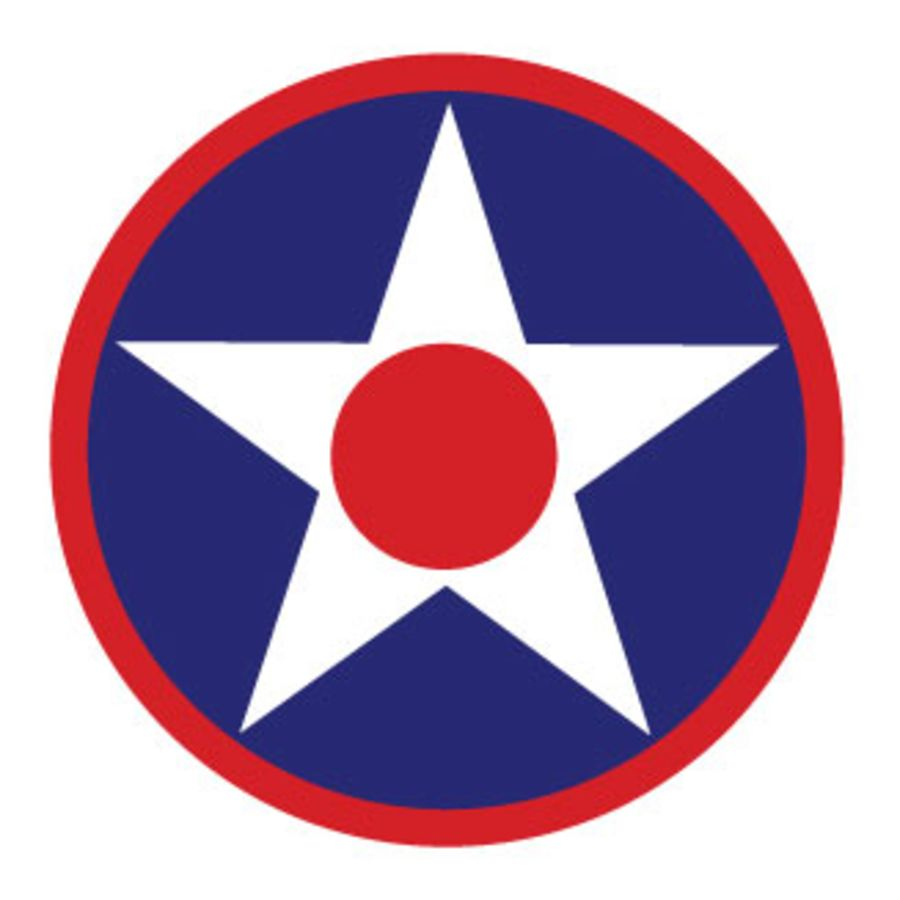USAF Roundel Blue Circle White Star Red Centre V2