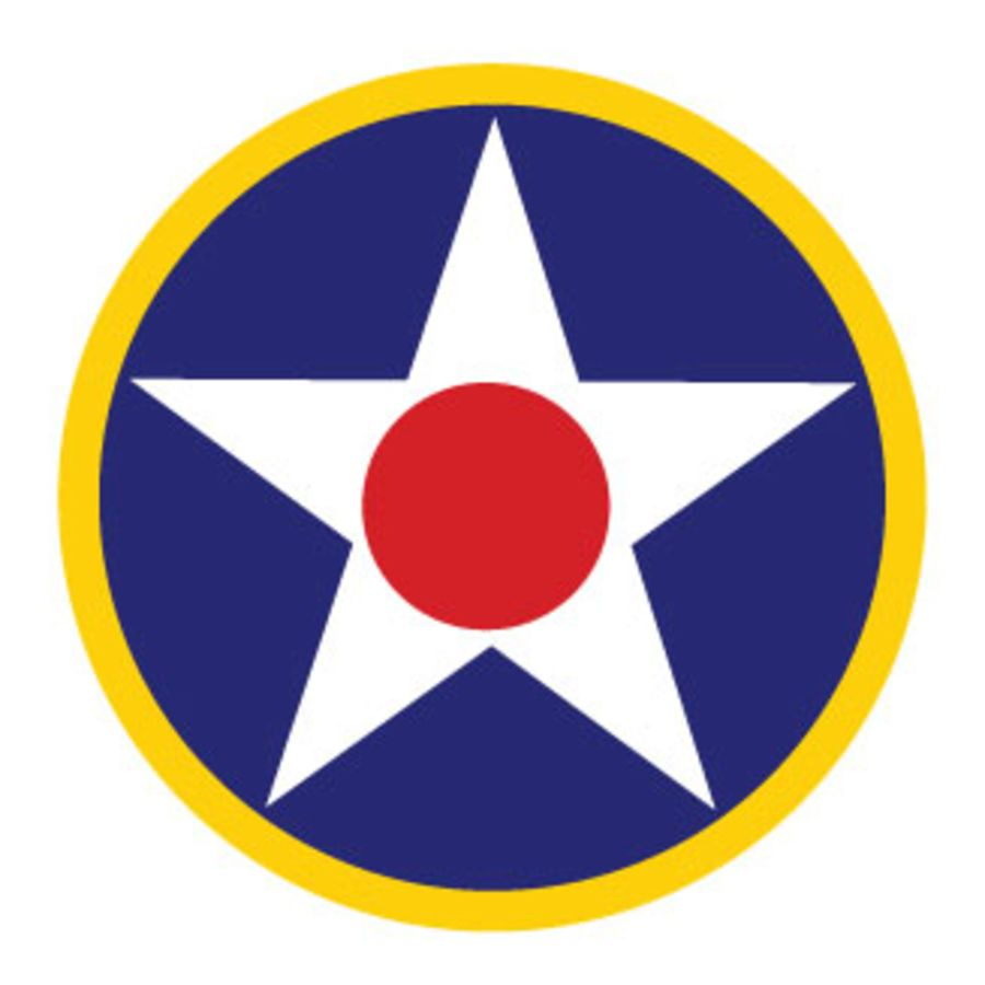 USAF Roundel Blue Circle White Star Yellow Ring V2