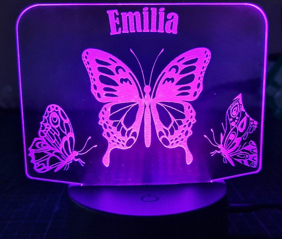Customised Butterfly LED Night Light