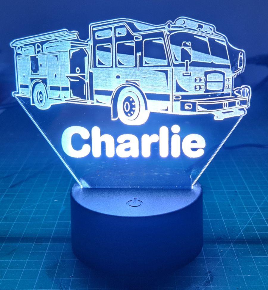Customised Fire Engine LED Night Light