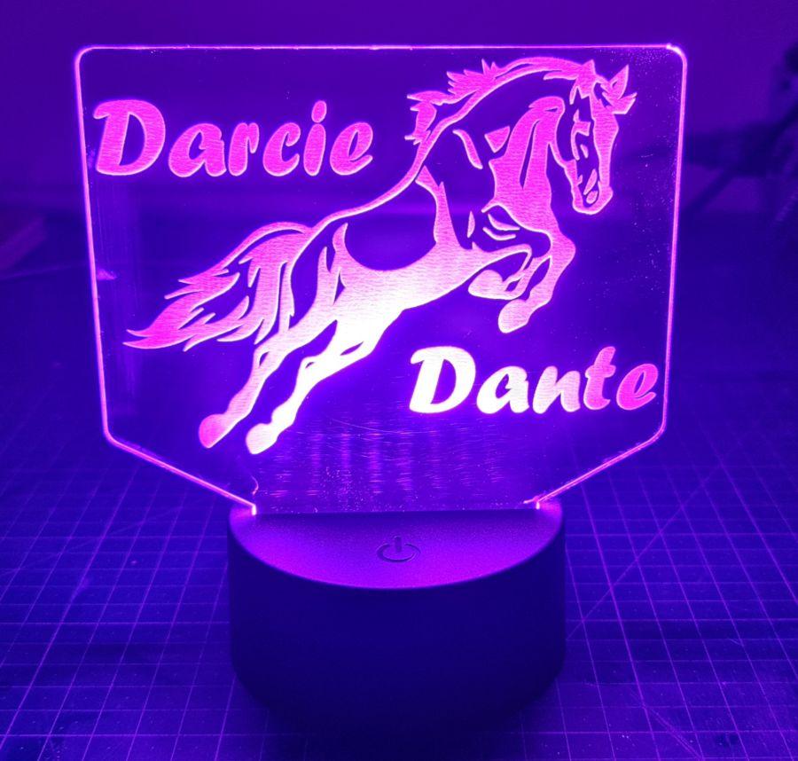 Customised Horse LED Night Light_copy