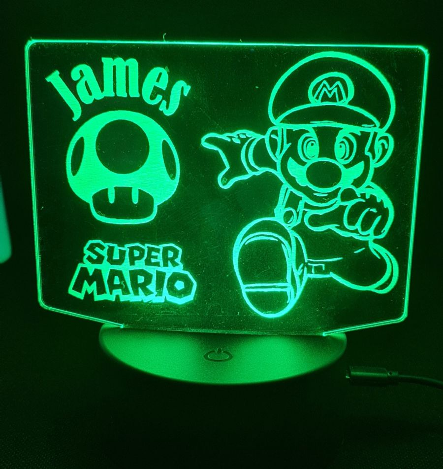 Customised Super Mario LED Night Light