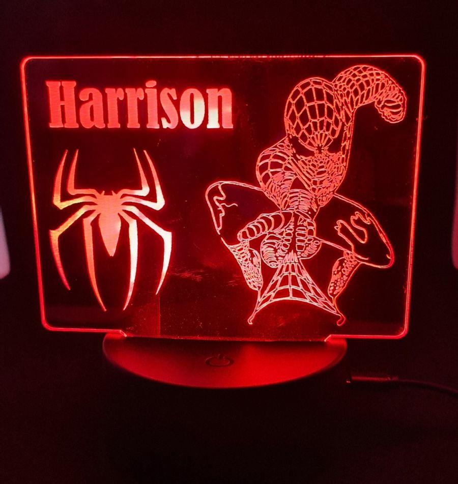 Customised Spiderman LED Night Light