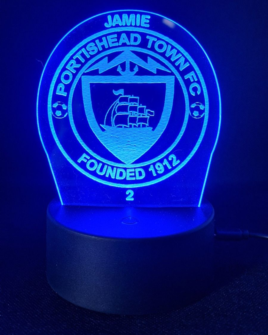 Customised Portishead Town FC LED Night Light
