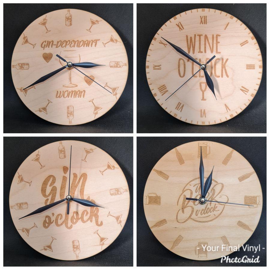 Lasercut Clocks