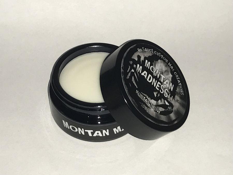 HBS Montan Madness, montan show wax blend , 50ml glass sample