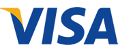 We accept Visa  via Stripe Payment Gateway