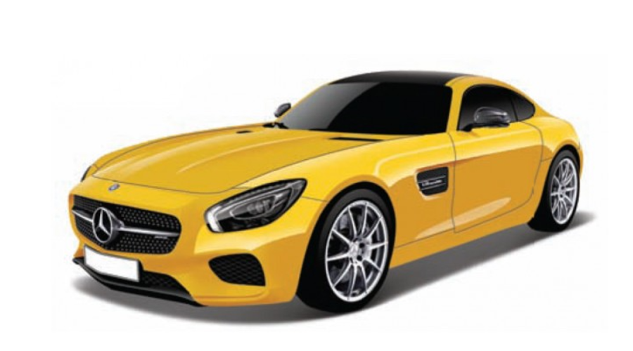 Maisto 1:18 Mercedes AMG GT Yellow scale model