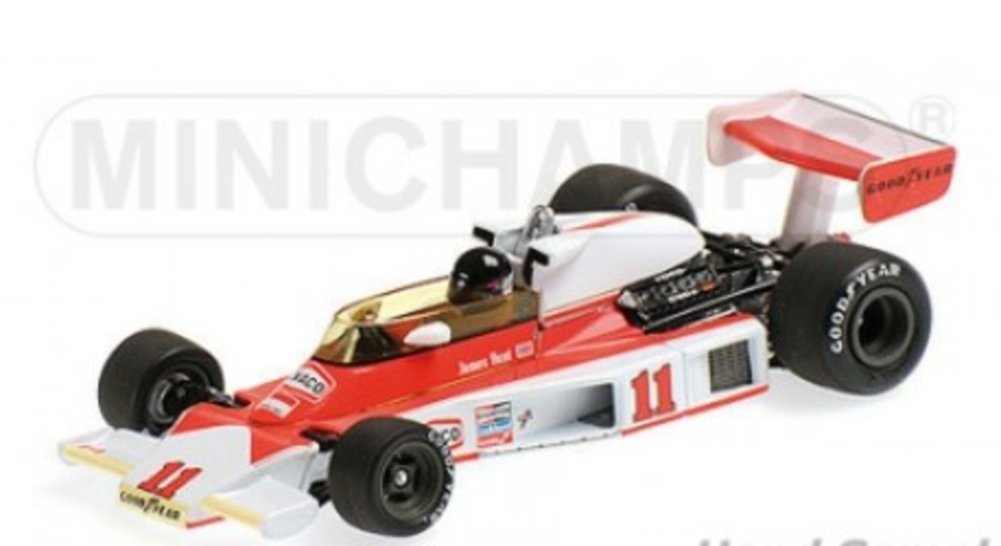 Minichamps 1:18 MCLAREN FORD M23 - JAMES HUNT - WORLD CHAMPION - 1976 Scale Model