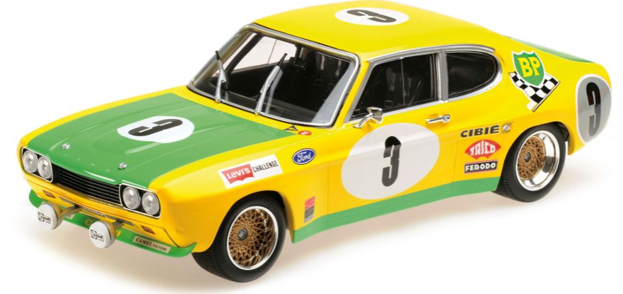 1:18 Ford Capri RS 2600 - Ford BP Racing Team Gerry Birrell   Bourgoignie - 2nd Place 24H Spa 1972