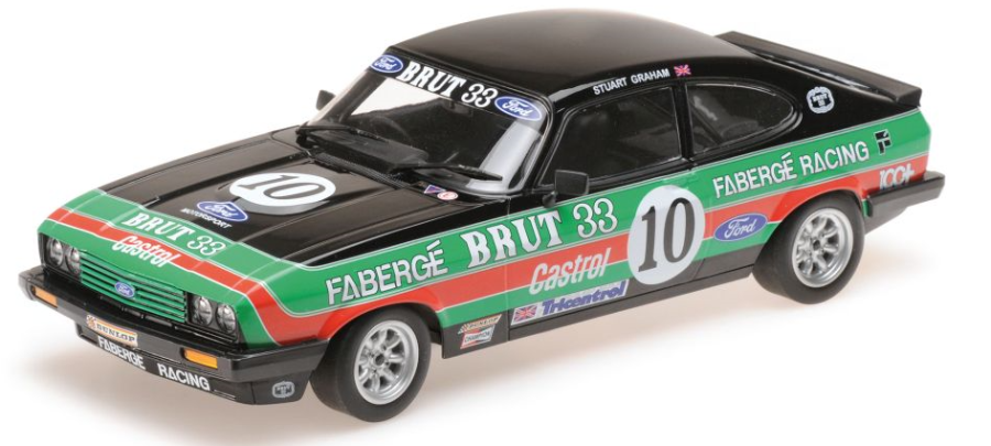 1:18 Ford Capri 3,0 - Brut 33 Faberge Racing Lee Jeans S.Graham - 2nd Oulton Park BSCC 1979
